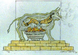 "A ""Brazen Bull"" from Phalaris' first production run circa 550 BC"