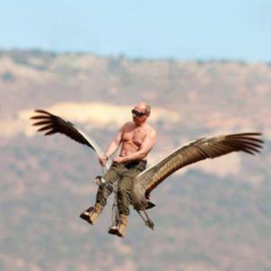 PutinRidingCrane