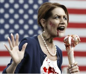 Michele Bachmann as a Zombie - photo illustration by Charles George