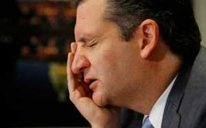 U.S. Senator Cruz reacts as he answers questions during the Reuters Washington Summit in Washington