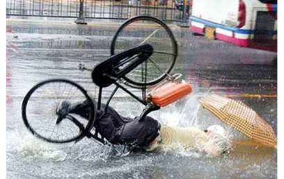 bicycle-accident-flooded-road