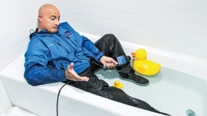 Weather Channel meteorologist Jim Cantore gets the scoop.